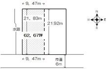 鯖江市定次町14-7-3売地の平面図