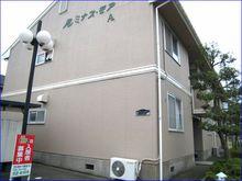 鯖江市平井町の2DK賃貸アパート『ルミナス・モア』の外観です。