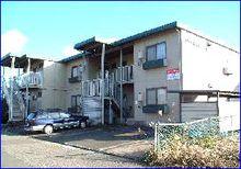 鯖江市石田上町の2DK賃貸アパート『メゾン石田上』の外観写真です。