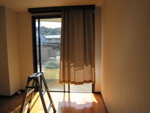 サンハイツ堂ヶ辻101号室のカーテン取付例のサムネール画像