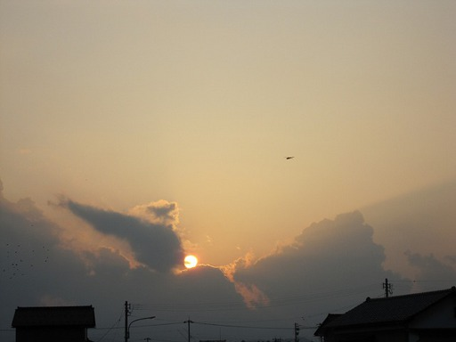 2011年8月11日のさばえ夕焼け