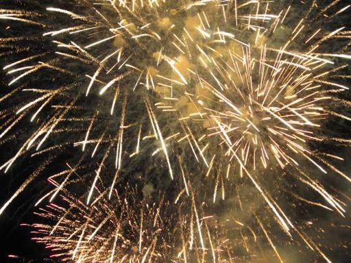 越前市サマーフェスティバルの打ち上げ花火