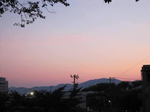 西山公園から見た夕闇風景