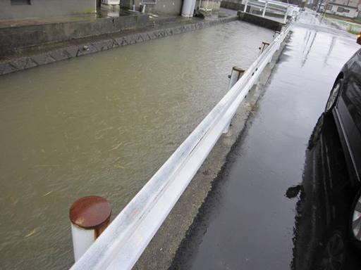 鯖江市東鯖江2丁目の川の様子
